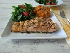 Maple Mustard Glazed Grilled Salmon by Peanut Butter and Peppers