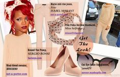 Get the look! Rihanna - look in pastel shades