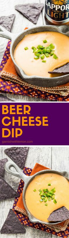 Who can say no to this cheese goodness? This easy Beer Cheese Dip recipe is one of my favorites! ~ http://www.garnishwithlemon.com