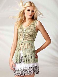 FREE crochet pattern for a summer vest