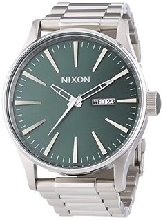 Men's Wrist Watches - Nixon The Sentry Green Dial Stainless Steel Quartz Male Watch A3561696 ** You can find more details by visiting the image link. (This is an Amazon affiliate link)