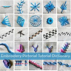 a pictorial dictionary of embroidery stitches.