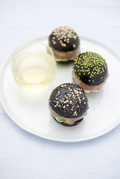 #Hamburger noir et tartare Sugherello - #recetteoriginale