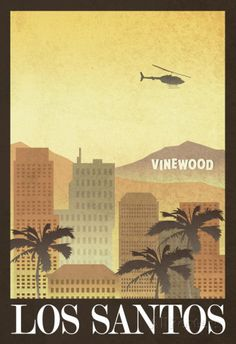 Yes! Los Santos Retro Travel Poster Poster at AllPosters.com. GTA baby!