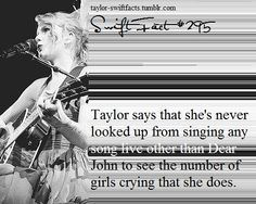 I bawled my eyes out when Taylor sang Dear John. And my friend thought I was crazy and literally left me there alone. Taylor Swift Hair, Long Live Taylor Swift, Taylor Swift Facts, Taylor Swift Quotes, Taylor Swift Pictures, Taylor Alison Swift, Red Taylor, Dear John, Jesy Nelson