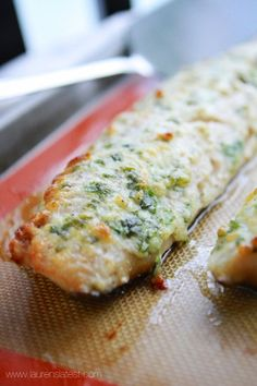 Easy 20 minute garlic and herb-baked cod. This was good!