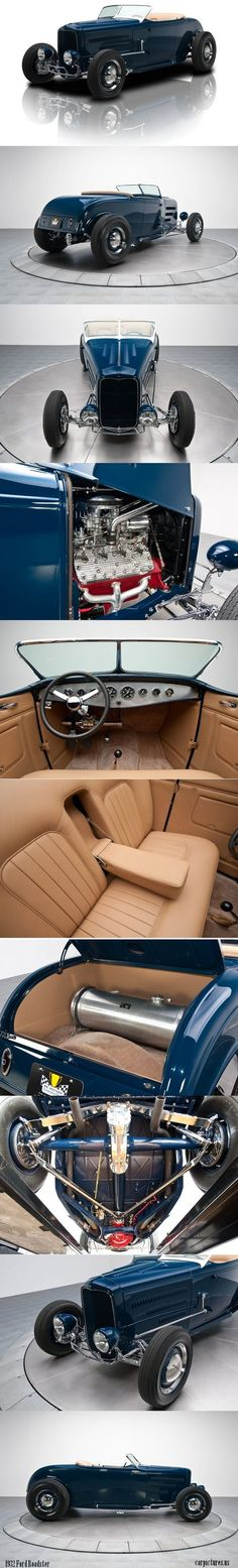 1932 Blue Ford Roadster 300CI Flathead: