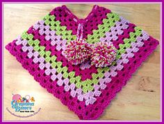 Ravelry: Perfectly Pretty Poncho pattern by Gramma Beans