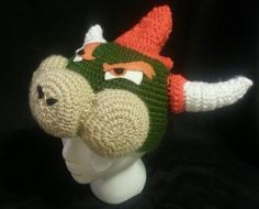 Super Mario Brothers Bowser crochet hat/beanie