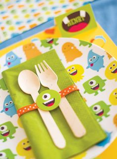 Cute & Happy Little Monster Bash! // Hostess with the Mostess®  Monster theme birthday party ideas