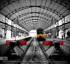 Mooie fotografie van Karel Ton  DD-AR op station Haarlem