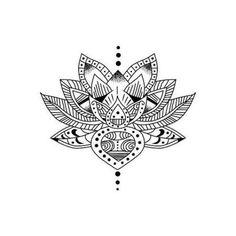 Tattify Tradtional Style Lotus Temporary Tattoo - Lotus Eater (Set of 2)