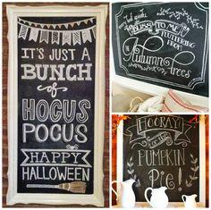 Fall chalkboard. @Christie Moffatt Wilson I want one now too! @Paige Hereford Lauren