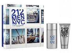 Carolina Herrera 212 Men NYC Perfume Masculino - Eau de Toilette 100ml + Gel Pós Barba 100ml