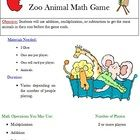 FREE Zoo Animal Math Game! You choose if students use multiplication, addition, or subtraction to play this fun game by The Lesson Lady.