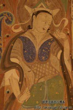 克茲爾千佛洞珍貴的壁畫菩薩