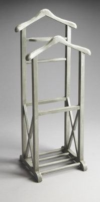 Keep an entire suit of clothes wrinkle free and neatly organized, in designer style, with our Meyer Valet Stand.