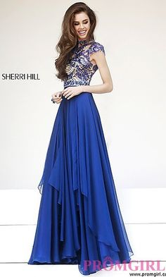 Floor Length High Neck Sherri Hill Dress at PromGirl.com