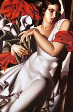 Tamara de Lempicka (Polish, 1898-1980): Portrait of Ira. Oil on canvas. Art-Deco style.