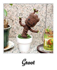 Amigurumi Groot Patron : Crochet on Pinterest Granny Squares, Crochet Stitches ...