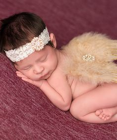 Look at this The Tiny Blessings Boutique Tan & Gold Headband & Angel Wing Set on today! Daddys Princess, Little Princess, Tiny Blessings, Baby Poses, Baby Girl Headbands, Children Photography, Photography Ideas, Angel Wings, My Baby Girl