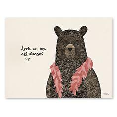 Bear dress up boa plakat fra Michelle Carlslund Illustration Art And Illustration, Graphic Design Illustration, Illustrations Posters, Art D'ours, Unusual Presents, Bear Print, Poster Prints, Art Prints, Shabby Vintage