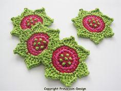Crochet+flowers+from+Häkelblumen+by+DaWanda.com