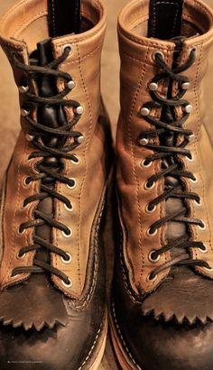 JOBMASTER: Black × Burlap Leather #boots