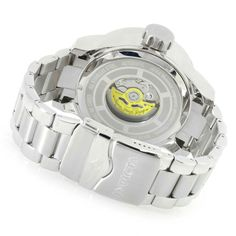Invicta Men's 53mm Russian Aviator Automatic Stainless Steel Bracelet Watch caseback