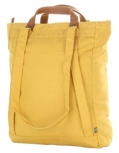 Fjallraven Totepack No. Fjallraven Totepack No. 1 Interesting way of using strap on one side to convert to a backpack Fjallraven Totepack – Ochre - Leather Handle, Leather Bag, Sacs Tote Bags, Best Diaper Bag, Backpack Straps, Tote Backpack, Crossbody Bag, Denim Bag, Handmade Bags