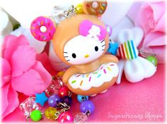 KAWAII Rainbow Tokidoki Donutella HK figure...