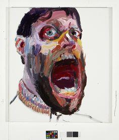 Ben Quilty - Artwork Self Portrait (big mouth)