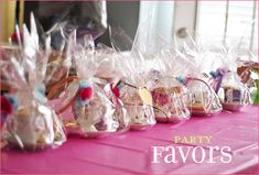 Cute party favors for a little girl's tea party!