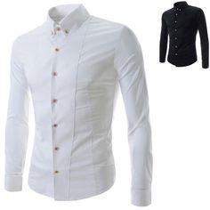 men double mandarin collar button down dressy shirts 100. Black Bedroom Furniture Sets. Home Design Ideas
