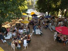 Swabbies on the River along Sacramento's Garden Highway -- famous for fish tacos, live bands, very casual outdoors dining