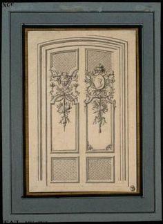 [Projet de porte à deux vantaux]   Centre de documentation des musées - Les Arts Décoratifs