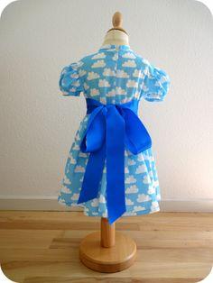 50's dress with cloud print