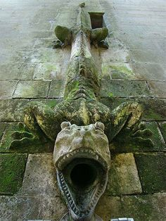 Drainpipe of the Chateau de Pierrefonds, France