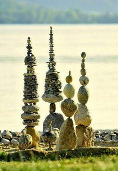 This rock pagoda in a feng shui garden