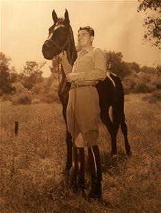Reagan in his Dehner boots
