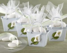 Calla Lily Wedding Favors and Decorations Almond Wedding Favours, Italian Wedding Favors, Homemade Wedding Favors, Creative Wedding Favors, Inexpensive Wedding Favors, Wedding Gifts For Guests, Wedding Party Favors, Bridal Shower Favors, Wedding Ideas