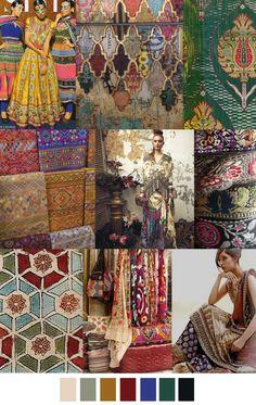 inspiration for print + color for part 1 Colour Schemes, Color Trends, Color Combos, Color Patterns, Fashion Design Inspiration, Color Inspiration, Fashion Colours, Colorful Fashion, Trendy Fashion