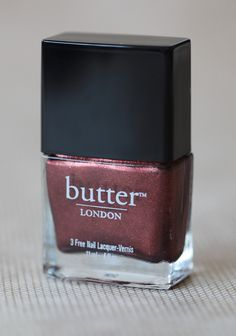 Shag Nail Lacquer By Butter London 13.99 at shopruche.com. A metallic auburn nail polish with bronze shimmer by Butter London. Formaldehyde, toluene, and DBP free. Opaque glossy color.0.4 fl oz