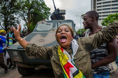 Zimbabweans Celebrate In The Streets While Anticipating Fall Of Robert Mugabe