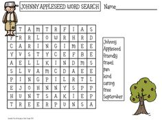 Rowdy in First Grade: Johnny Appleseed Freebie