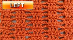 Simple Beginner Stitch - Left Handed Crochet Tutorial 1