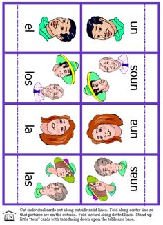 FREE Spanish articles activity set with several types of cards to practice all 8 articles with different nouns -- singular/plural, masculine/feminine