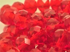 30 pcs Swarovski Crystal Loose Beads 4x6mm Red A29 Rondelle Loose Beads, 6x4mm - 30 beads - Jewellery Making Supplies - Swarovski Light Siam Crystal Beads