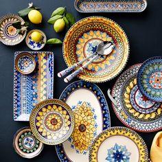 Appetizer Plates, Dinner Plates, Dinner Ware, Williams Sonoma, Sugar Scrub Diy, Pip Studio, Dish Sets, Painting Edges, Carnival Glass