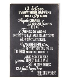 This Black 'I Believe...' Marilyn Monroe Wall Sign by Sara's Signs is perfect! #zulilyfinds